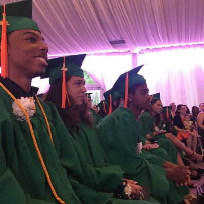 Students during commencement